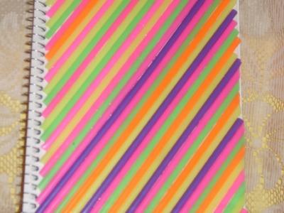 DIY Cómo decorar tu cuaderno con popotes