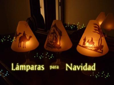 Manualidades para Navidad: LUCES en NAVIDAD (Lámparas de papel) Christmas lights ( paper lamps )-