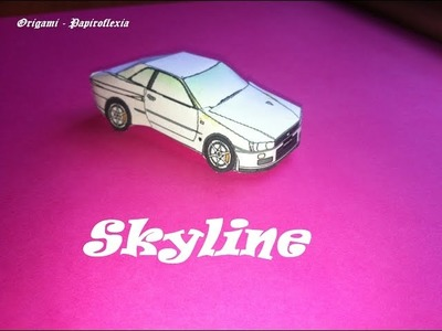 Paper Toys. Origami . Papiroflexia. Nissan Skyline.
