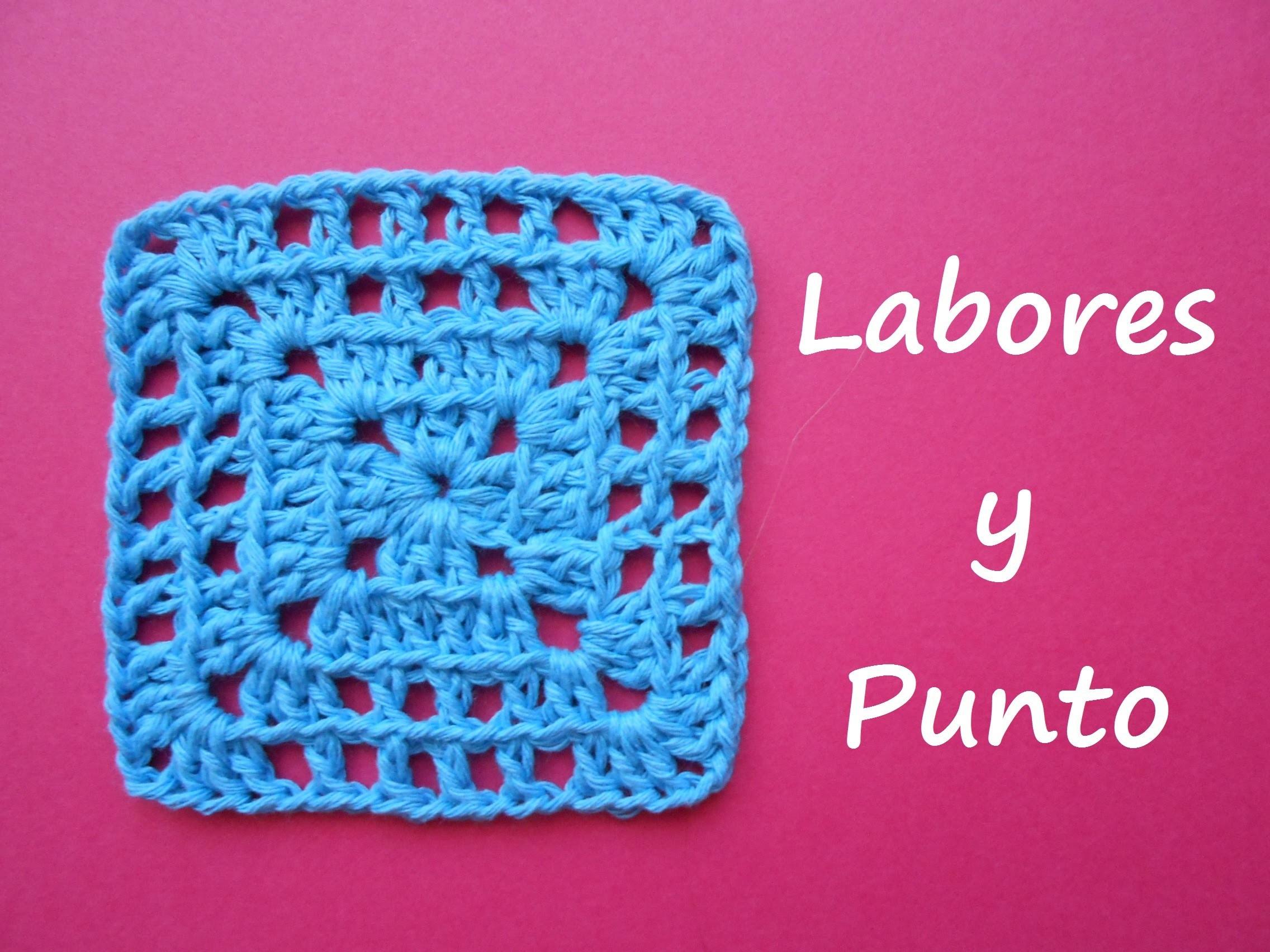 Aprende a tejer este  cuadrado de patchwork 6 a ganchillo o crochet