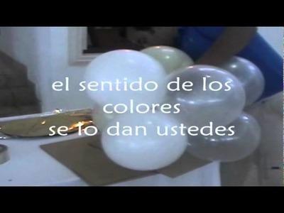 COLUMNA DE 4 COLORES O CARAMELO GLOBOS CHASTY