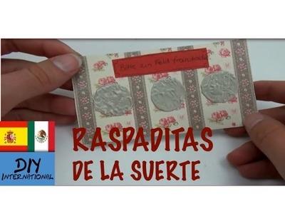 CÓMO HACER UNA RASPADITA DE LA SUERTE - RASPA Y GANA - TUTORIAL DIY