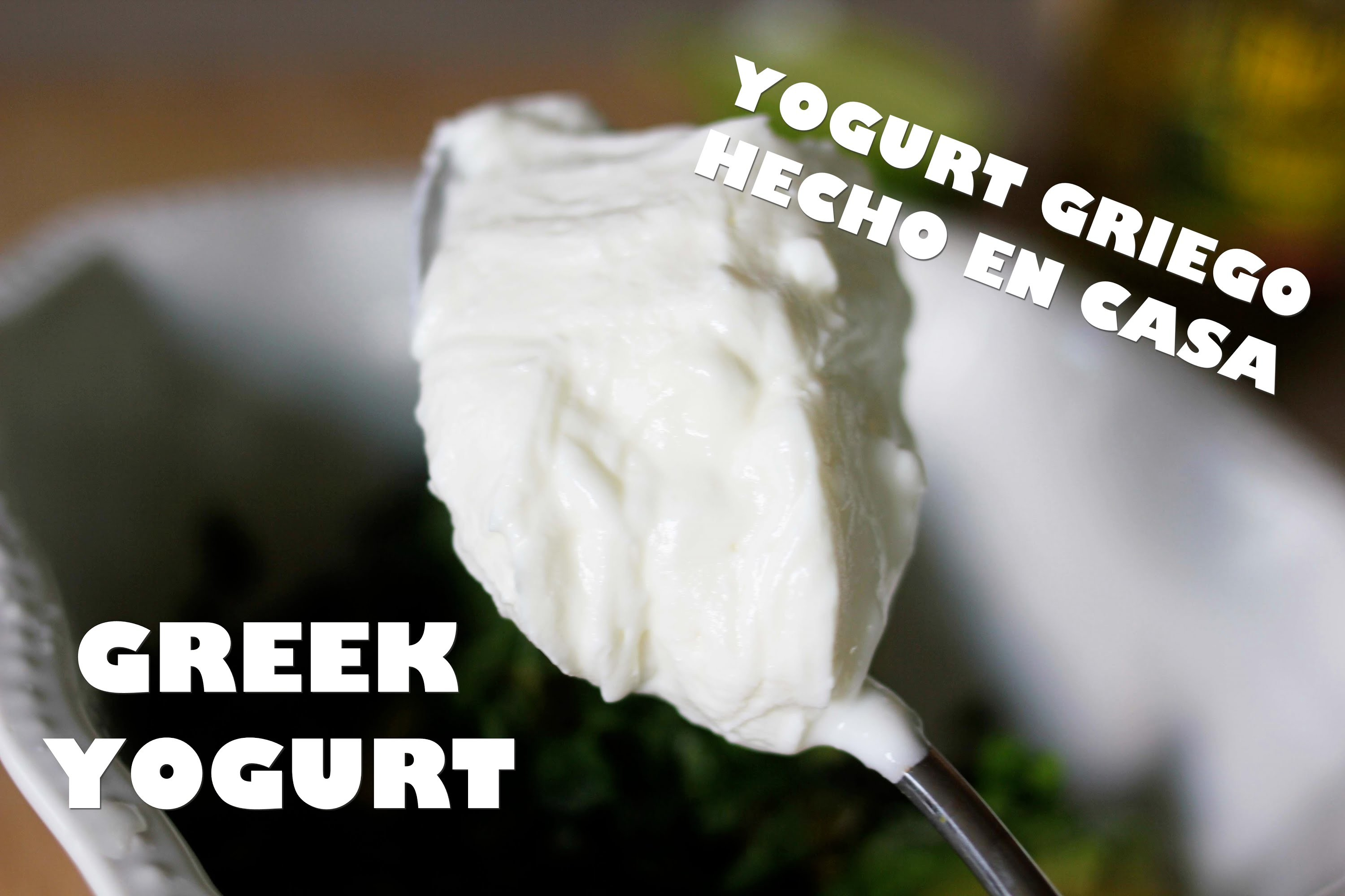Como hacer yogurt griego light en casa y 2 recetas rapidas. Homemade Greek Yogurt