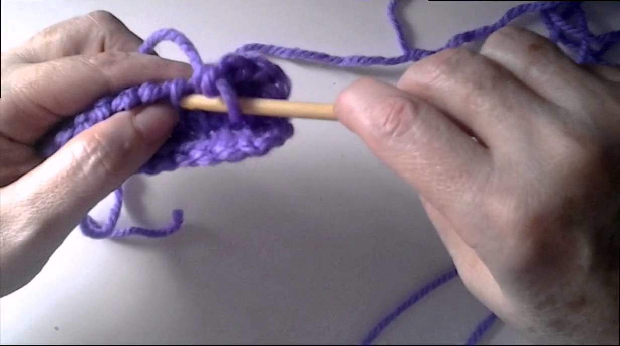 Crochet (ganchillo)tunecino menguar ( disminuir )