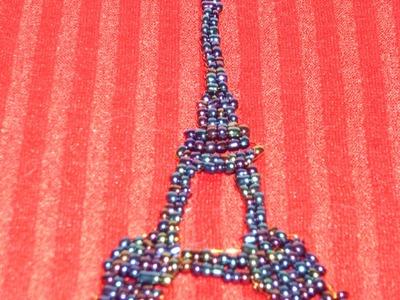 DIY Cómo hacer la Torre Eiffel  con chaquirones o mostacillas