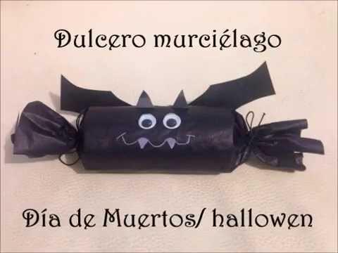 DIY: Dulcero de papel murciélago día de muertos.halloween (fácil)