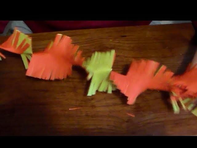 Guirnalda flecos de papel -  Paper flecos garland
