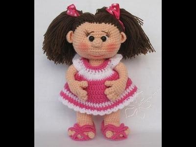 Muñecas amigurumi de ganchillo tejidas a mano. Crochet dolls.
