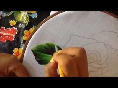 Pintura en tela servilleta deshilada # 2 con cony
