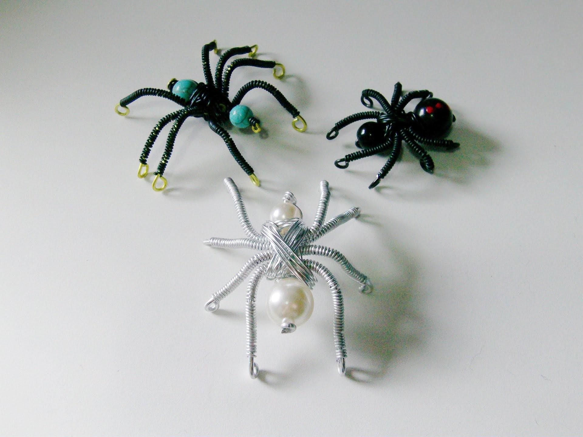 Arañas de alambre y cuentas DIY (wire spiders)