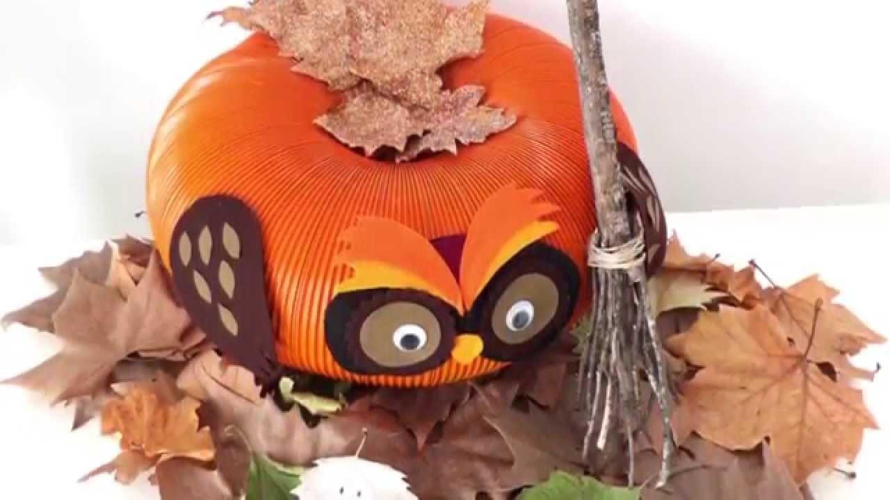 Cómo hacer Calabaza - Búho | Halloween DIY | Decoración Día de los Muertos