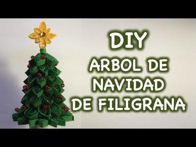 DIY Arbol de Navidad de Filigrana