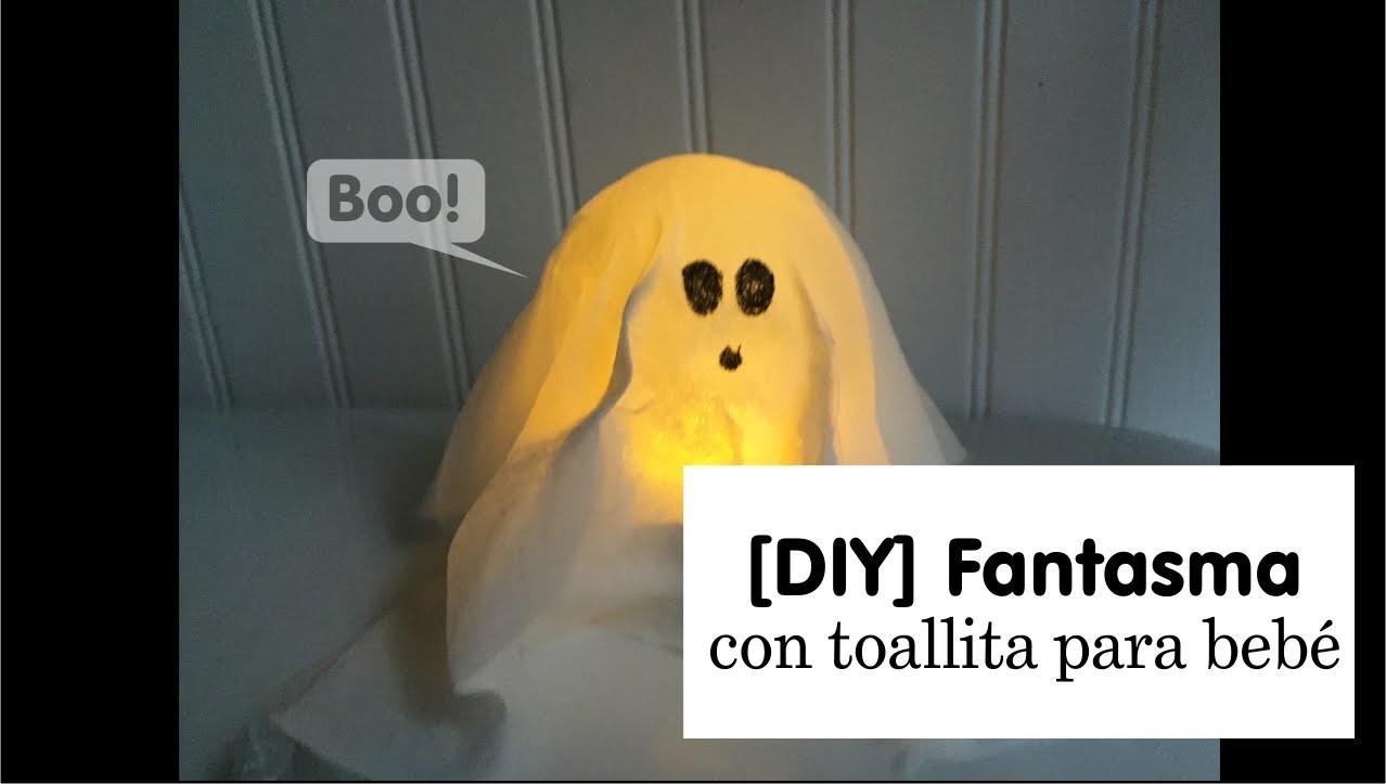 [DIY] Cómo hacer un fantasma para Halloween con toallitas de bebé