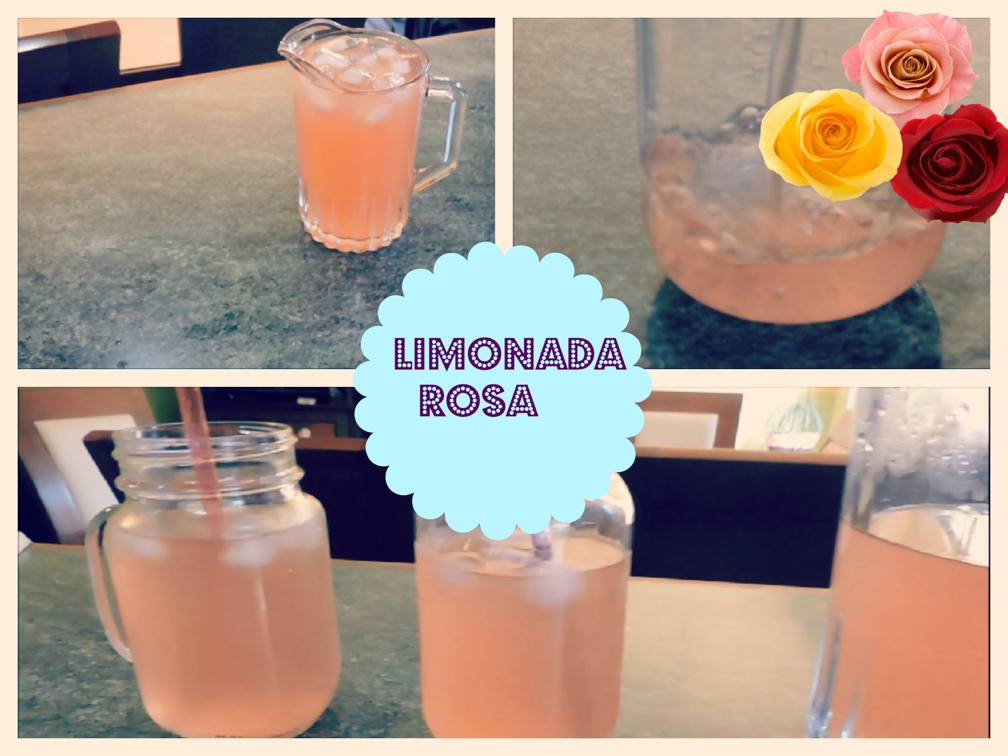 D.I.Y limonada rosa.Pink Lemonade