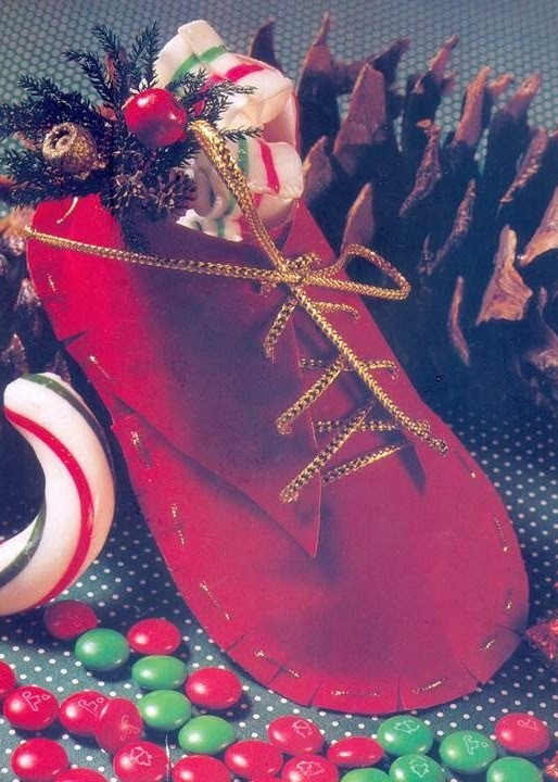 DIY - ZAPATO NAVIDEÑO PARA GOLOSINAS - PATRONES GRATIS PARA DESCARGAR -  Christmas Crafts -