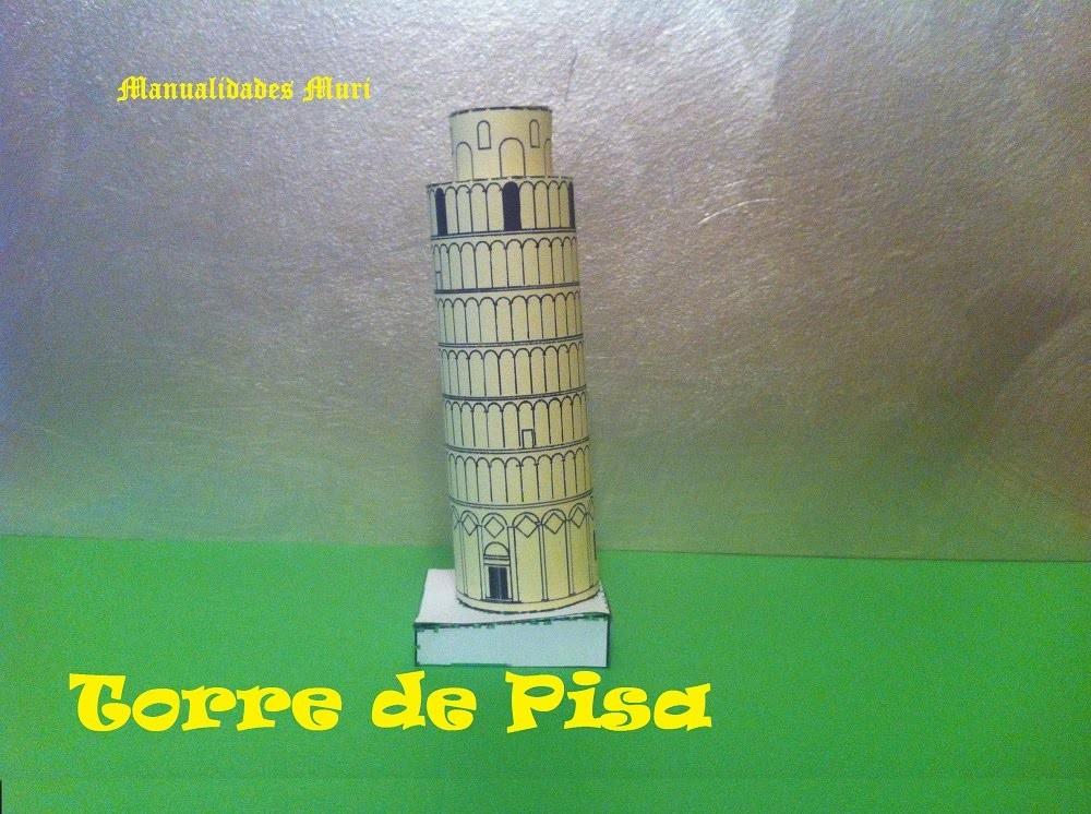 Paper Toys, Torre de Pisa. Italia.