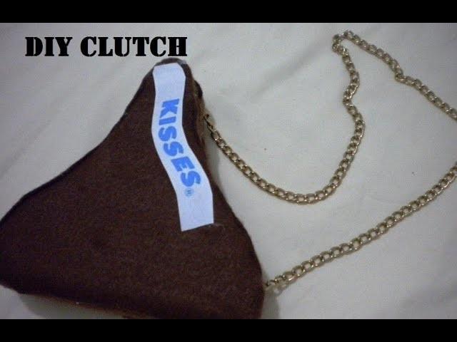 Clutch de Chocolate Kisses de Hershey's ✄ ❤| DIY | Bolsita o monedero | un estilo único y creativo ♡