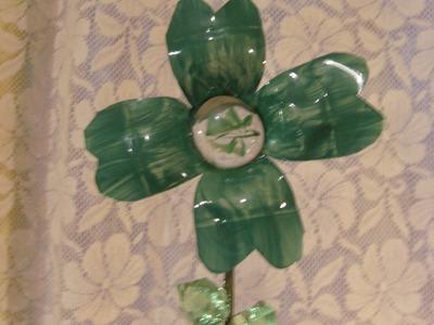 DIY Cómo hacer un trébol de 4 hojas, San Patricio (reciclando)