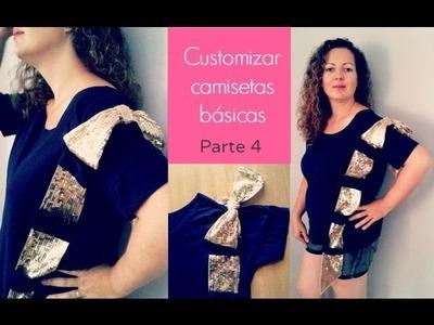 DIY Customizar camisetas básicas con cinta de lazo Parte 4