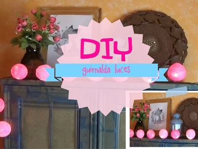 DIY Guirnalda de Luces con Bolas de Colores