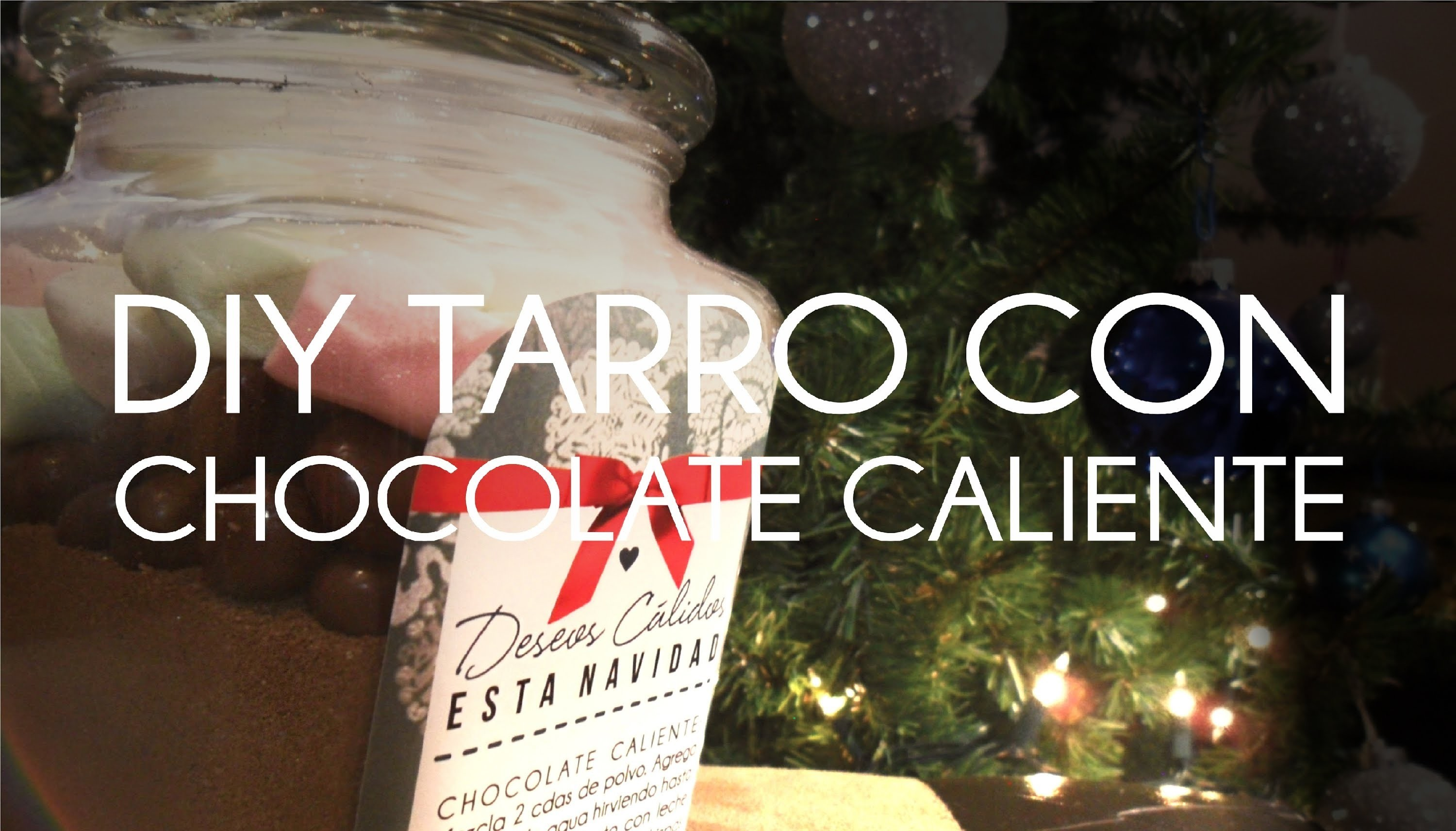 DIY TARRO CON CHOCOLATE CALIENTE.