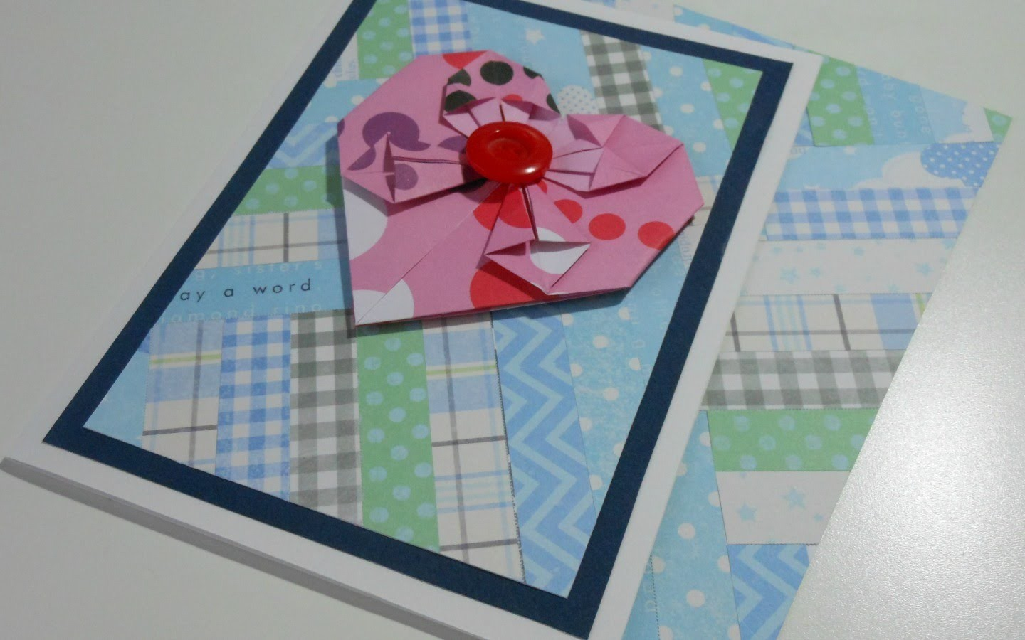 Paper Piecing - Reciclando Papel Decorado: Tarjeta San Valentín | Mundo@Party