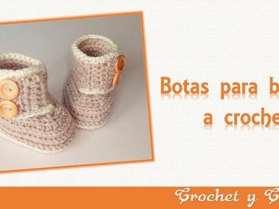 Botas – zapatos para bebés tejidas a crochet o ganchillo - Parte 2