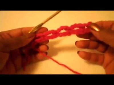 Cintillo sencillo (punto de red) - Tutorial de tejido crochet