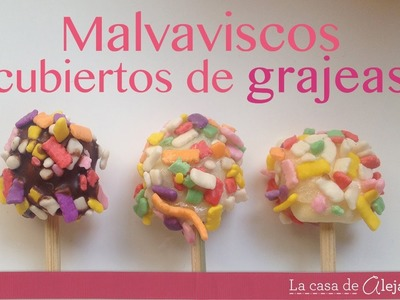 Cómo cubrir malvaviscos con grageas - How to cover marshmallows with dragees