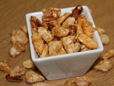 Cómo hacer cacahuetes con caramelo. Caramel peanuts