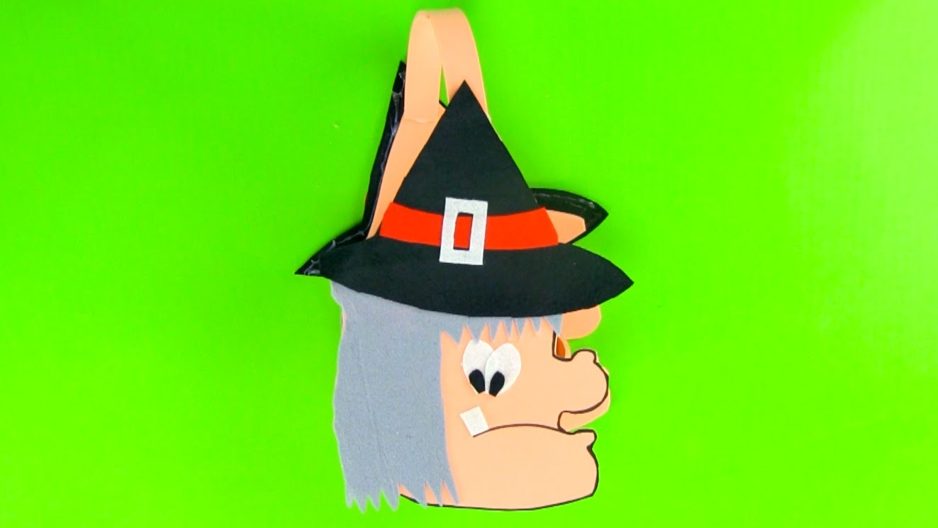 Cómo hacer un bolso de bruja para los dulces en Halloween