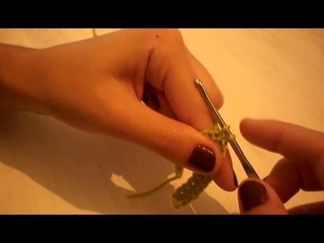 Como tejer a crochet - punto enano o deslizado
