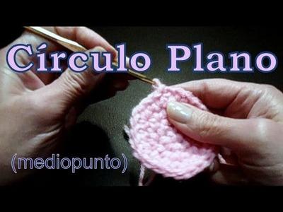 Cómo tejer un círculo plano en mediopunto (single stitch circle) -tejido para zurdos-