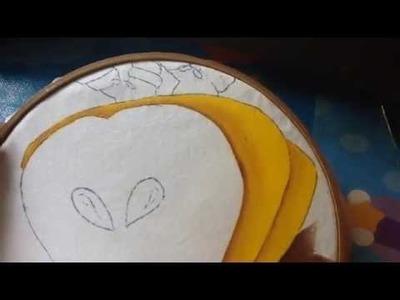 Pintura en tela niña pera # 4 con cony