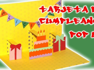 Tarjeta de cumpleaños pop up - DIY