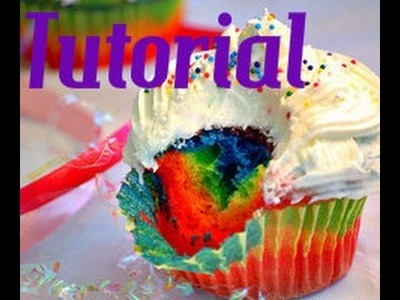Tutorial: Cupcake arco iris en arcilla polimérica (PETICION)
