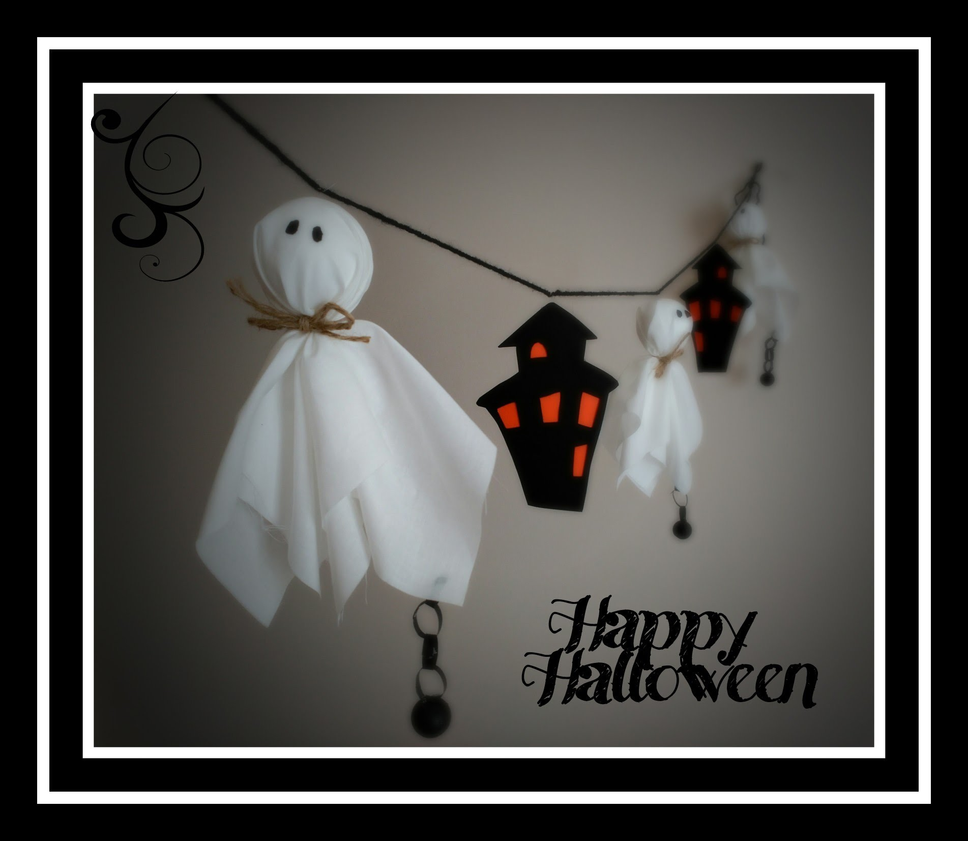 Manualidades Halloween. Decoración infantil. Guir