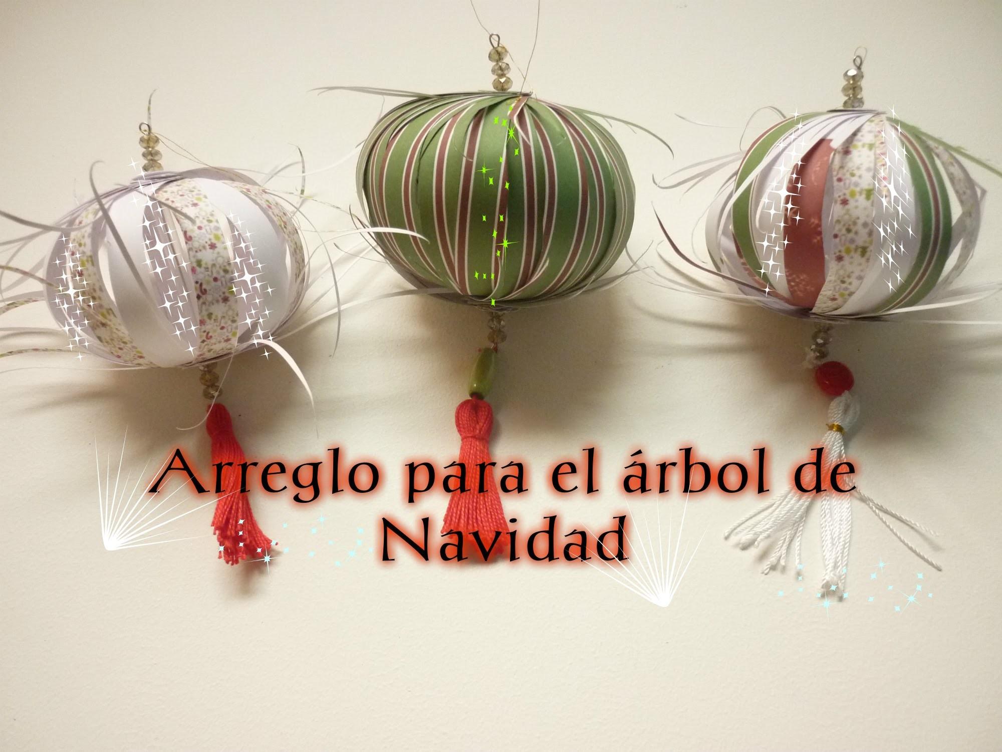 Manualidades para Navidad: ADORNO  para el Árbol de Navidad 2- Fix for Christmas tree 2