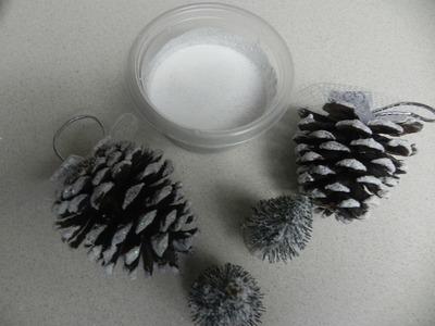 Manualidades para Navidad: Como hacer nieve artificial para decoracion de Navidad