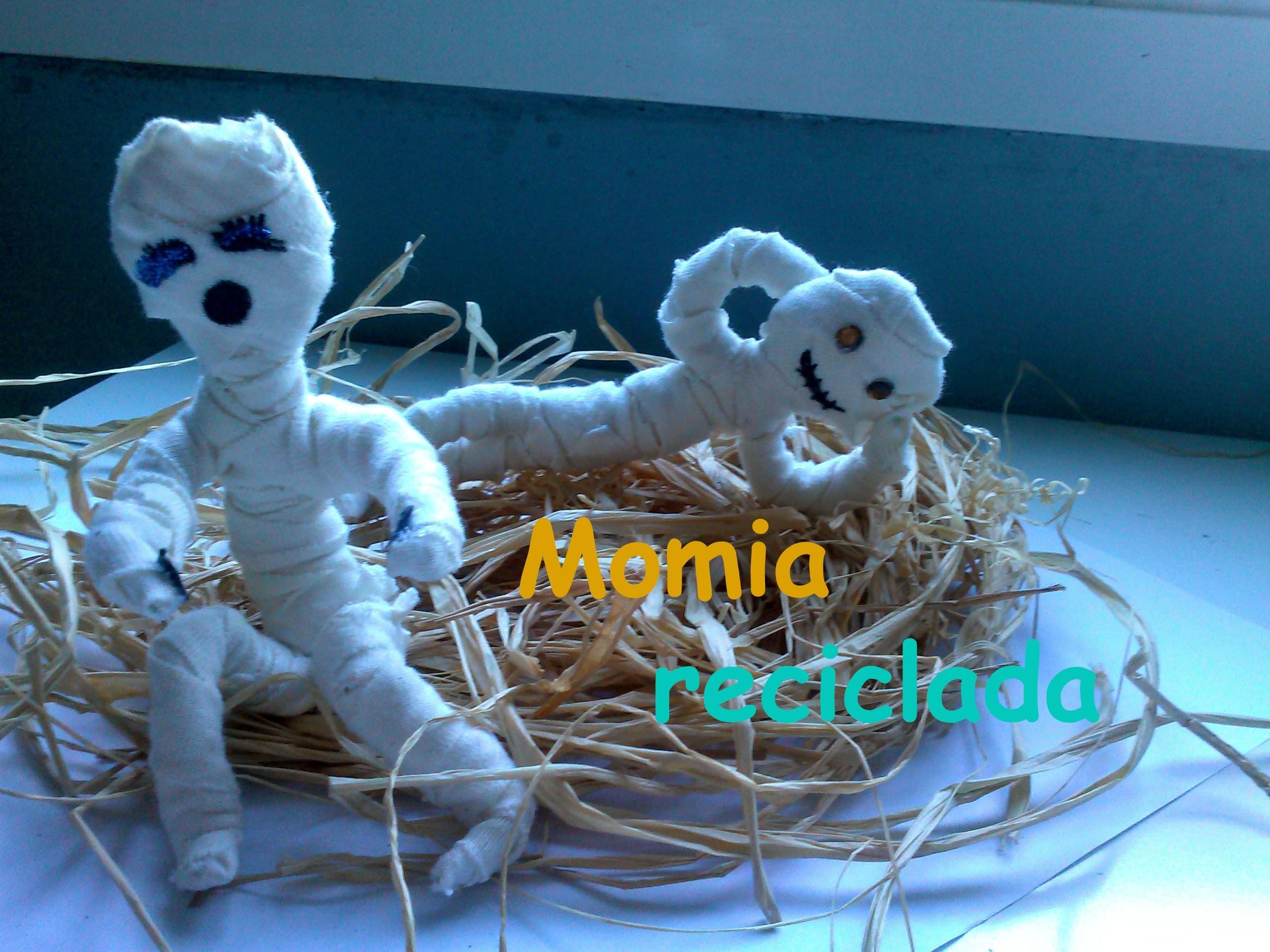 Momia reciclada ||Manualidades Halloween