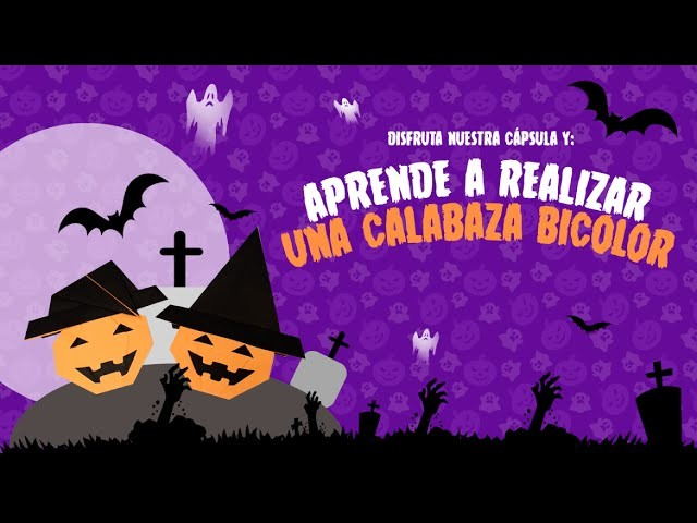 Calabaza Manualidades Halloween Origami Bicolor