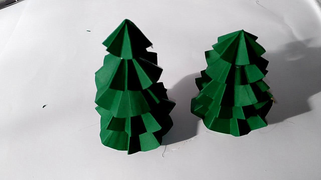 Como hacer arbol de navidad de de origami manolidades manualidades y mas DIY Christmas
