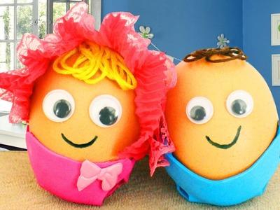 Cómo hacer un bebé de  huevo y una cuna - Manualidades - Para clase de estudios sociales