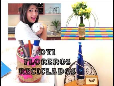 DIY FLOREROS CON MATERIAL RECICLADO