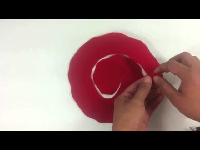Hacer rosa de fieltro - Manualidades abalorios