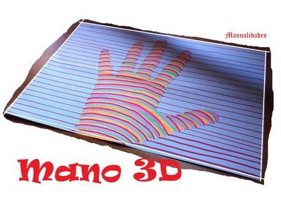 Manualidades para niños: Como dibujar una mano en 3D