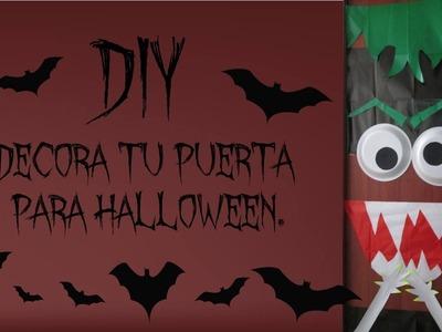 Manualidades para halloween:Decora tu puerta :D paso a paso