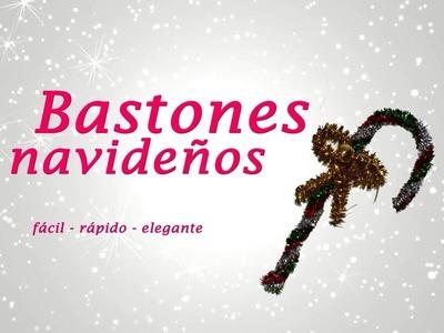 BASTONES NAVIDEÑOS CON LIMPIAPIPAS (chenillas) » Manualidades Navideñas