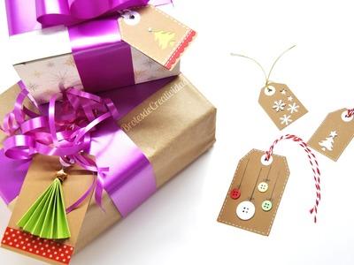 DIY : Etiquetas navideñas fáciles para poner en los regalos