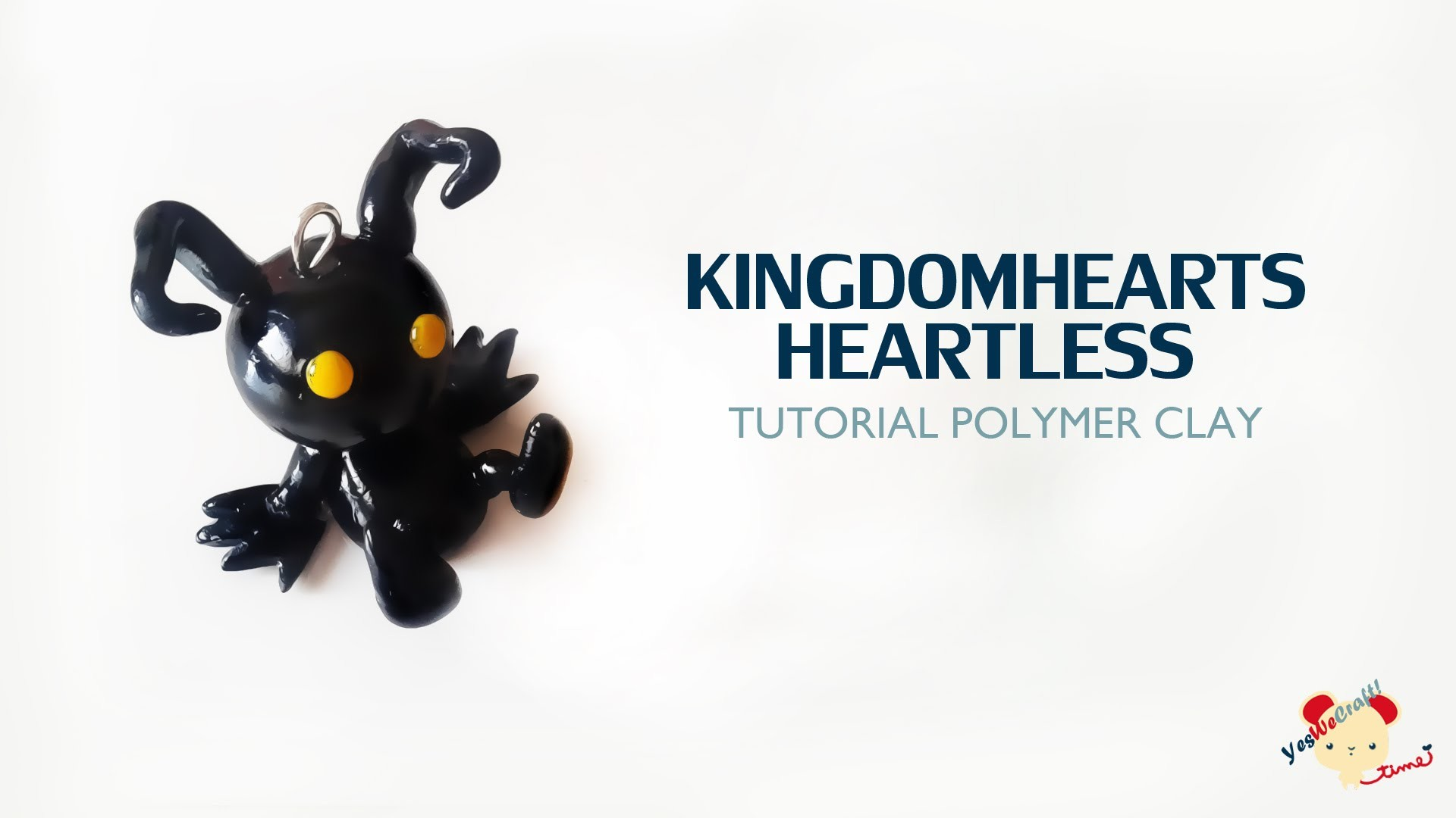 Kingdom Hearts Heartless Polymer Clay Tutorial. Sincorazón Kingdom Hearts de Arcilla Polimérica